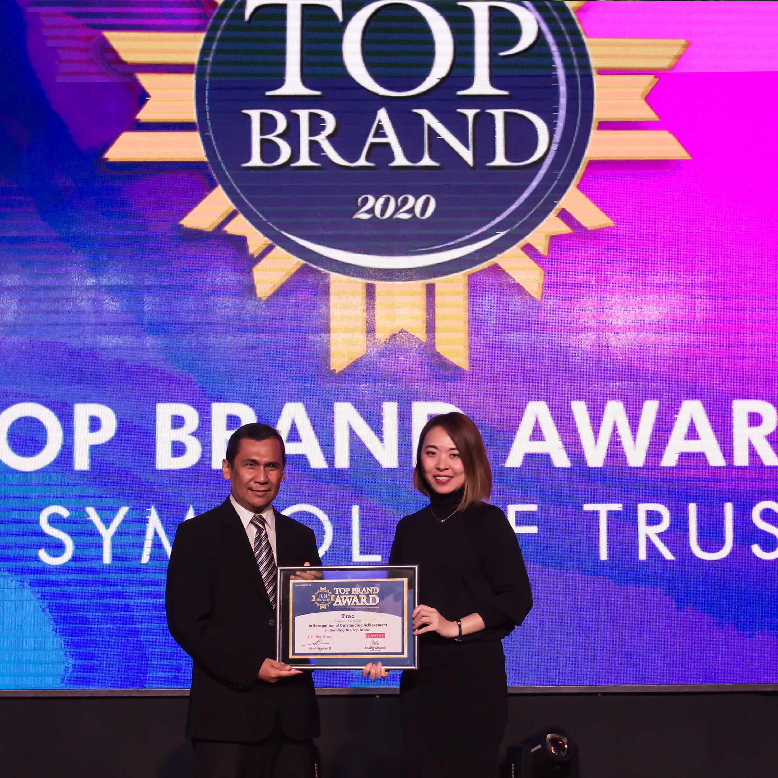 TRAC Kembali Meraih Penghargaan Top Brand Awards 2020